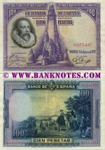 Spain 100 Pesetas 15.8.1928 (circulated) VF+