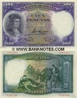 Spain 100 Pesetas 1931 (2,245,494) (lt. circulated) XF