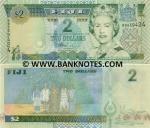Fiji 2 Dollars (2002) (BB9394xx) UNC