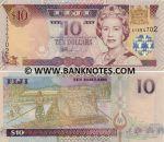 Fiji 10 Dollars (2002) (BG07801x) UNC