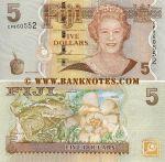 Fiji 5 Dollars (2007) (CP86055x) UNC