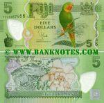 Fiji 5 Dollars (2012) (FFA0063xxx) UNC