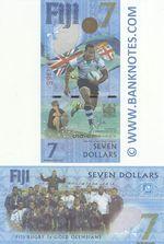 Fiji 7 Dollars 2016 (AU077496x) UNC
