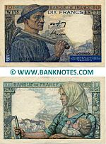 France 10 Francs 10.3.1949 =Replacement= (W.175/437448773) (2 ph) (circulated) VF-XF