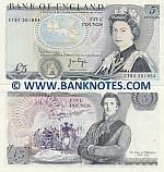 Great Britain 5 Pounds (1973-80) (CT84/261855) AU-UNC
