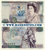 Great Britain 20 Pounds (1970-91) (75A/592158) AU-UNC