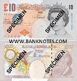 Great Britain 10 Pounds 2000 (2004-11) (HC39/7175xx) UNC