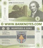 Great Britain One Lewes Pound 2013 (00009xxM) UNC