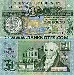 Guernsey 1 Pound (1991-95) (V1330xx) UNC