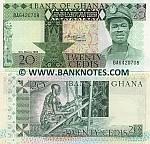 Ghana 20 Cedis 6.3.1982 (BA64207xx) UNC