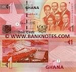 Ghana 1 Cedi 6.3.2010 (EN08212xx) UNC