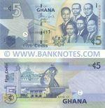 Ghana 5 Cedis 1.7.2014 (QH06684xx) UNC