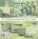 Ghana 10 Cedis 6.3.2013 (SL76249xx) UNC