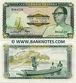 Gambia 10 Dalasis (1987-90) (Q86452x) UNC