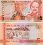 Gambia 5 Dalasis (2006) (D72570xx) UNC
