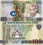 Gambia 100 Dalasis (2010) (C59540xx) UNC
