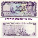 Gambia 1 Dalasi (1972-86) (H392129) UNC