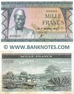 Guinea 1000 Francs 1960 (K351019) (lt. circulated) XF+