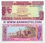 Guinea 50 Francs 1985 (AP79720xx) UNC