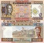Guinea 1000 Francs 2010 (JT7608xx) UNC
