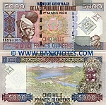 Guinea 5000 Francs 2010 (KH8741xx) UNC