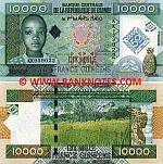 Guinea 10000 Francs 2010 (KK9590xx) UNC