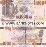 Guinea 1000 Francs 2015 (AY7321xx) UNC
