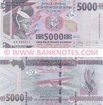 Guinea 5000 Francs 2015 (AB4822xx) UNC