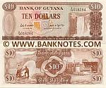 Guyana 10 Dollars (1989) (A/16 2151xx) UNC