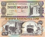 Guyana 20 Dollars (2006) Sig.13 (B/57 0743xx) UNC