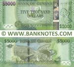 Guyana 5000 Dollars 2015 (AY774127) UNC