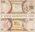 Guyana 50 Dollars 2016 (AB5840xx) UNC