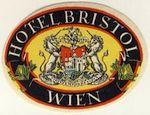 Austria: Vienna: Hotel Bristol (never hinged, with full glue)