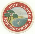 Spain: Puerto Pollensa, Mallorca: Hotel del Puerto (unhinged, partially glued)