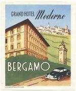 Italy: Bergamo: Grand Hotel Moderno late 1950s (MUH, w/o glue)