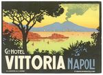 Italy: Naples: Grand Hotel Vittoria 1930-40s (MNH, w/o glue)