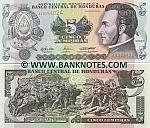 Honduras 5 Lempiras 26.8.2004 (AV33940xx) UNC