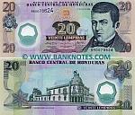 Honduras 20 Lempiras 31.7.2008 (BR00786xx) UNC