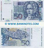 Croatia 50 Kuna 7.3.2002 (A90241xxZ) UNC