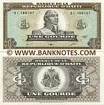Haiti 1 Gourde 1987 (BG8261xx) UNC
