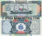 Haiti 10 Gourdes 2004 (CU4200xx) UNC