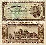 Hungary 100 Million Pengö 18.3.1946 (P171/054467) (lt. circulated) XF