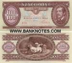 Hungary 100 Forint 1995 (B051/0269xx) UNC