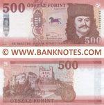 Hungary 500 Forint 2018 (EG 54557xx) UNC