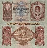 Hungary 50 Pengö 1.10.1932 (D054/05777x) UNC
