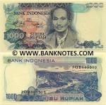 Indonesia 1000 Rupiah 1980 (Replacement: XAR059190) UNC