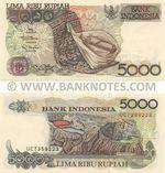 Indonesia 5000 Rupiah 1992/2001 (UCT3592xx) UNC