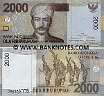 Indonesia 2000 Rupiah 2009 (JAW5867xx) UNC