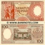 Indonesia 100 Rupiah 1958 (SDF009xxx) UNC