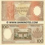 Indonesia 100 Rupiah 1964 (WFB0175xx) UNC